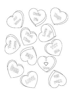 printable conversation hearts coloring pages - photo#16