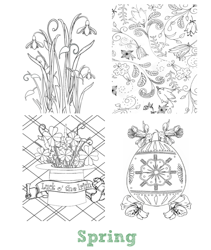 The Seasons Mini Coloring Book Whispers In Nature - mini coloring pages for adults