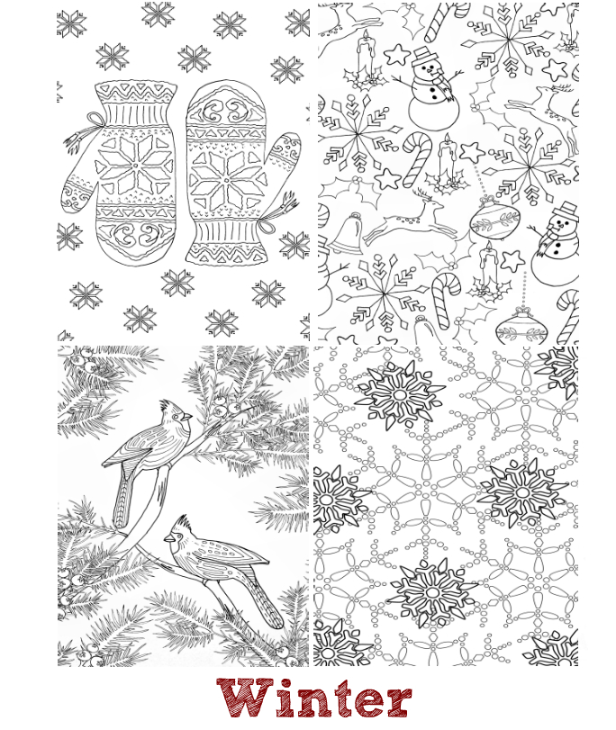 The Seasons - Mini Coloring Book | Whispers In Nature